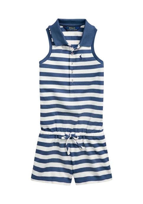 Ralph Lauren Childrenswear Girls 4-6x Striped Mesh Polo