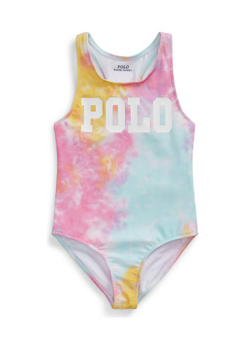 Ralph Lauren Childrenswear Girls 4-6x Tie-Dye One-Piece Swimsuit