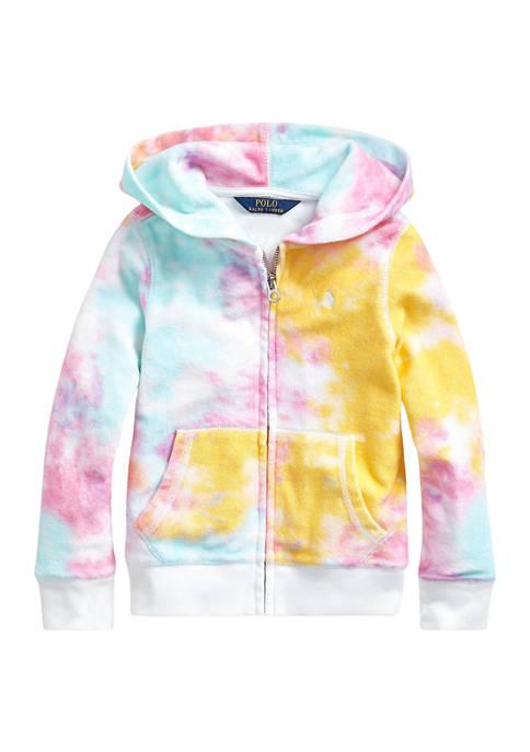 Ralph Lauren Childrenswear Girls 4-6x Tie-Dye Terry Hoodie