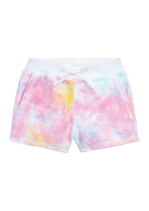 Ralph Lauren Childrenswear Girls 4-6x Tie-Dye Terry Shorts