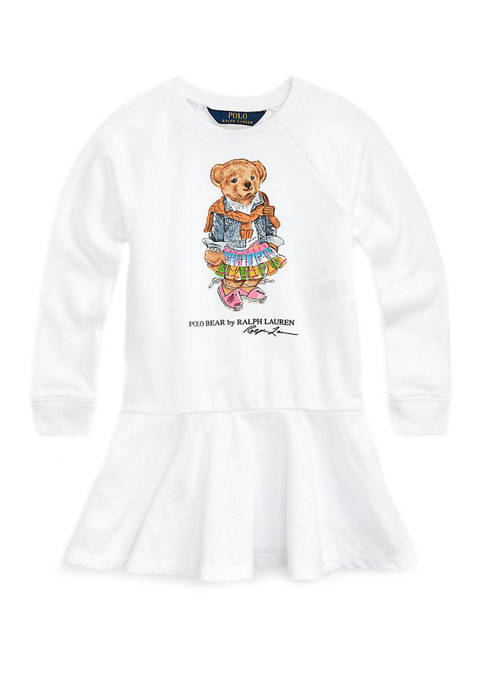 Ralph Lauren Childrenswear Girls 4-6x Madras Bear Terry