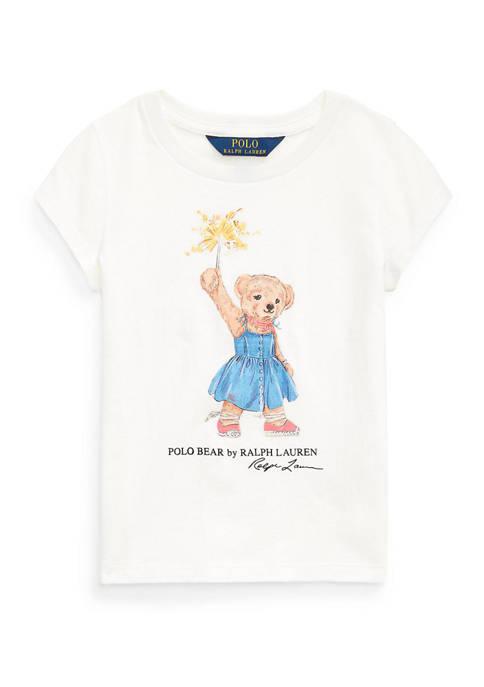 Girls 4-6x Sparkler Bear Cotton T-Shirt