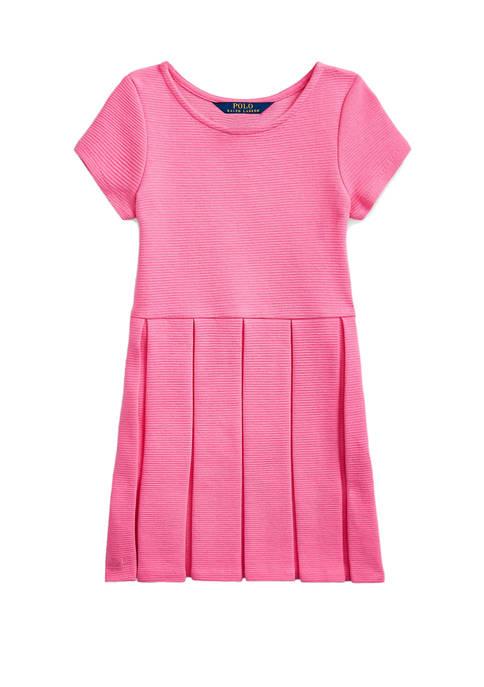 Ralph Lauren Childrenswear Girls 4-6x Pleated Ottoman-Rib Dress