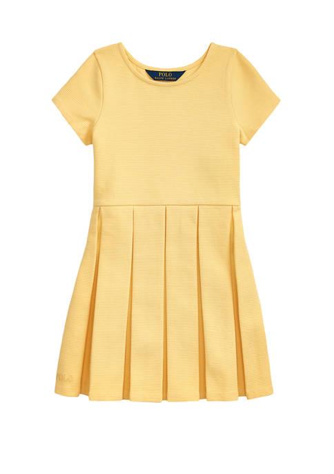Ralph Lauren Childrenswear Girls 4-6x Pleated Ottoman Rib