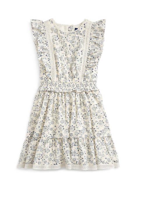 Ralph Lauren Childrenswear Girls 4-6x Floral Cotton Poplin