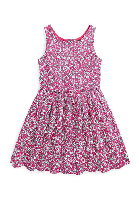 Ralph Lauren Childrenswear Girls 4-6x Floral Cotton Poplin
