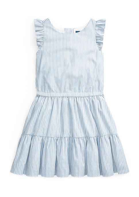 Girls 4-6x Striped Tiered Cotton Dress