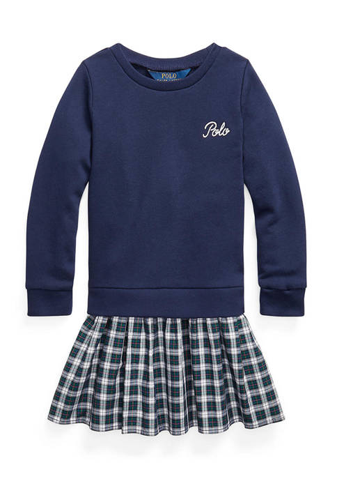 Girl 4-6x Plaid-Skirt Sweatshirt Dress