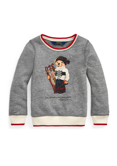 Girls 4-6x Sled Bear Atlantic Terry Sweatshirt