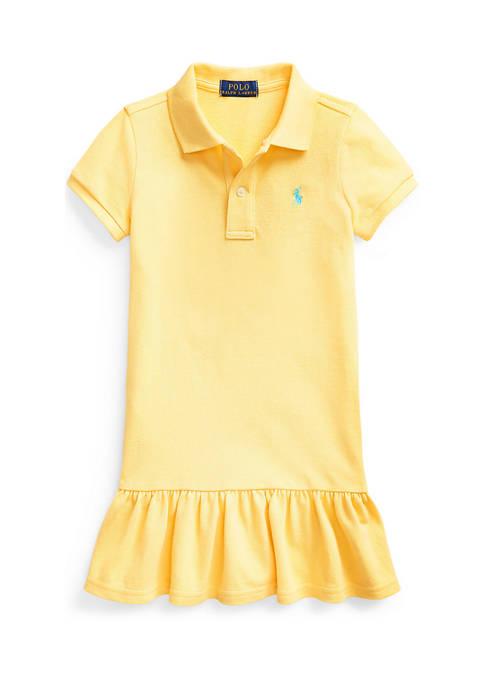 Girls 4-6x Cotton Mesh Polo Dress