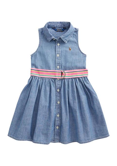 Ralph Lauren Childrenswear Girls 4-6x Indigo Cotton Chambray
