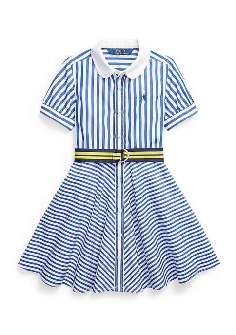 Ralph Lauren Childrenswear Girls 4-6x Striped Belted Cotton