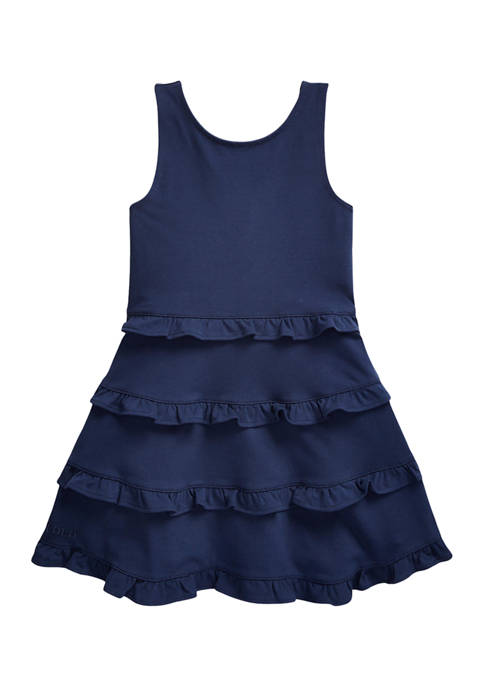 Girls 4-6x Ruffled Cotton Jersey Dress