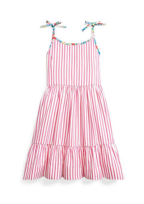 Girls 4-6x Striped Cotton Dress