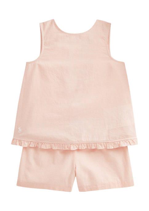 Ralph Lauren Childrenswear Girls 4-6x Gingham Linen Top