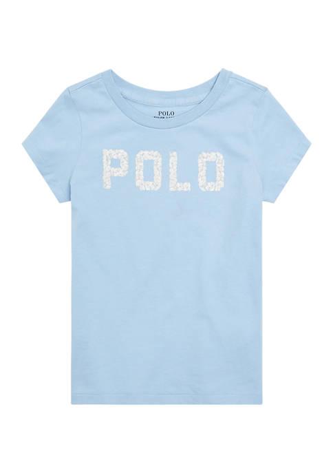 Ralph Lauren Childrenswear Girls 4-6x Seashell-Logo Cotton Jersey