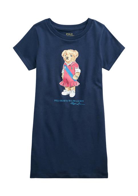 Ralph Lauren Childrenswear Girls 4-6x Polo Bear Cotton