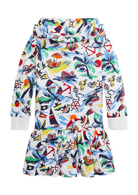 Ralph Lauren Childrenswear Girls 4-6x Polo Bear Hooded