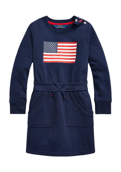 Ralph Lauren Childrenswear Girls 4-6x Flag Cotton Blend