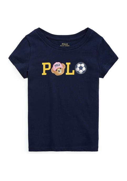 Ralph Lauren Childrenswear Girls 4-6x Polo Bear Logo