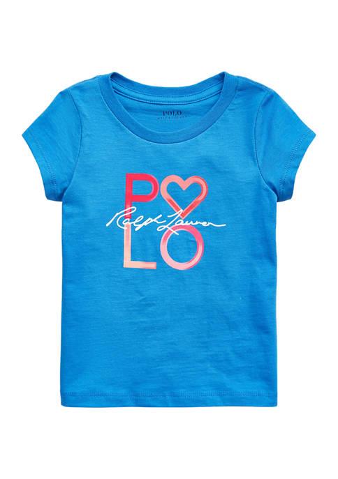 Ralph Lauren Childrenswear Girls 4-6x Logo Cotton Jersey