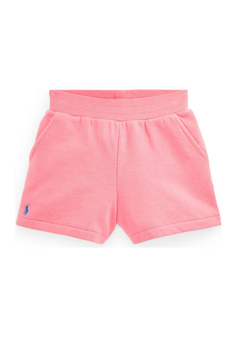Ralph Lauren Childrenswear Girls 4-6x Cotton-Blend Fleece Shorts