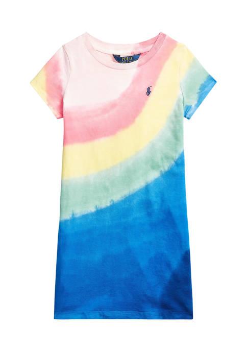 Ralph Lauren Childrenswear Girls 4-6x Tie-Dye Cotton Jersey