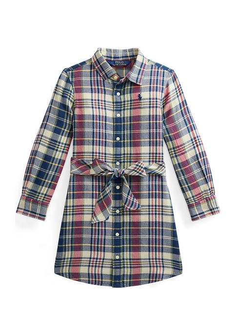 Ralph Lauren Childrenswear Girls 4-6x Plaid Cotton Twill