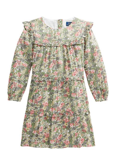 Ralph Lauren Childrenswear Girls 4-6x Paisley Tiered Cotton-Blend