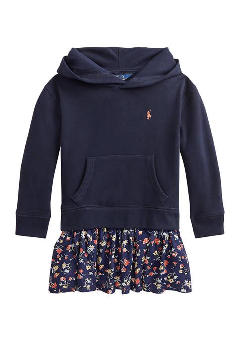 Ralph Lauren Childrenswear Girls 4-6x Floral Fleece Hoodie