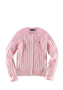 Cable Knit Cardigan Girls 7-16
