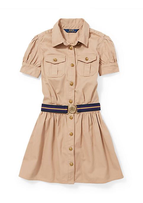 Ralph Lauren Childrenswear Cotton Twill Shirtdress Girls 7-16