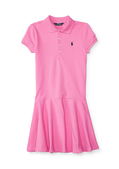 Ralph Lauren Childrenswear Drop-Waist Stretch Polo Dress Girls