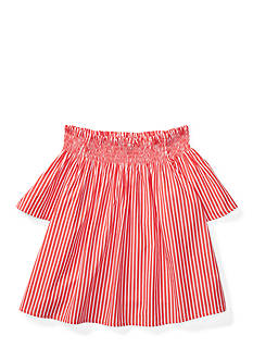 Ralph Lauren Childrenswear Striped Off-the-Shoulder Top Girls 7-16