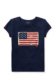 Washed Cotton Graphic Tee Girls 7-16