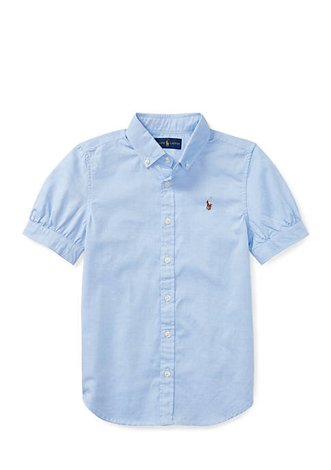 Ralph Lauren Childrenswear Cotton Oxford Shirt Girls 7-16
