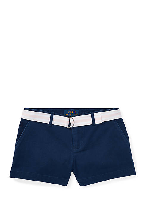Ralph Lauren Childrenswear Belted Cotton Chino Shorts Girls