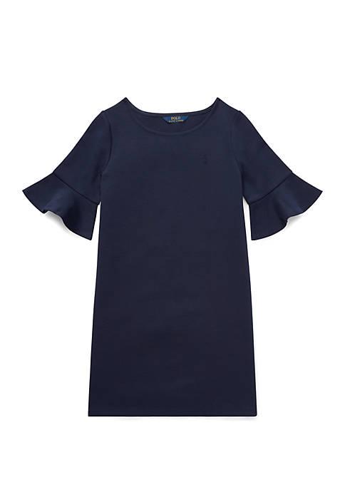 Girls 7-16 Ponte Bell Sleeve Dress