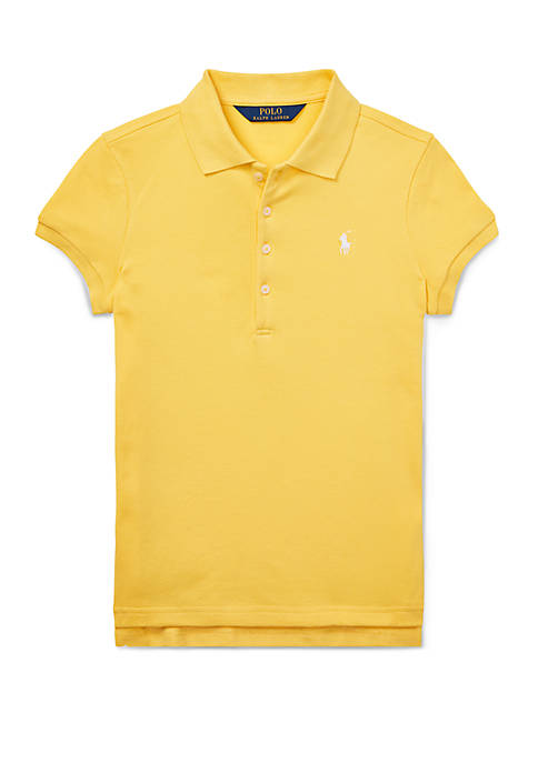 Ralph Lauren Childrenswear Girls 7-16 Stretch Piqué Polo