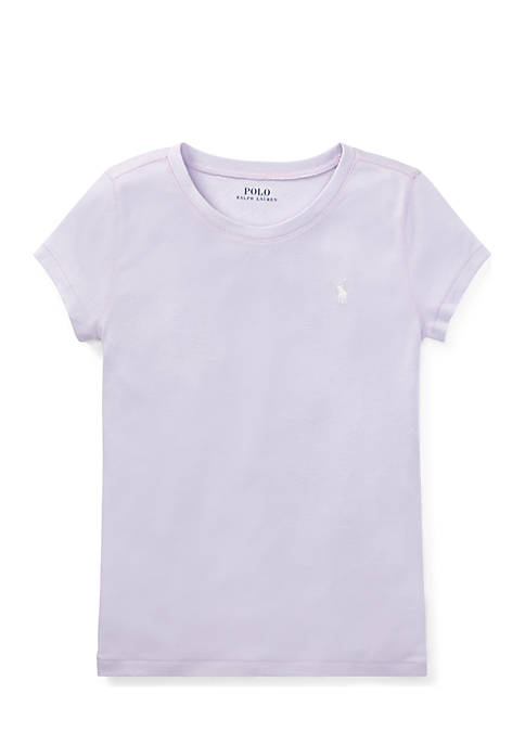 Ralph Lauren Childrenswear Girls 7-16 Cotton-Modal Crew Neck