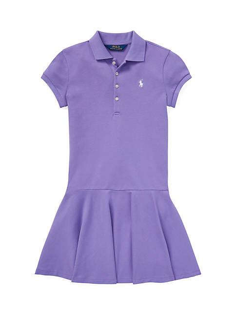 Girls 7-16 Stretch Piqué Polo Dress