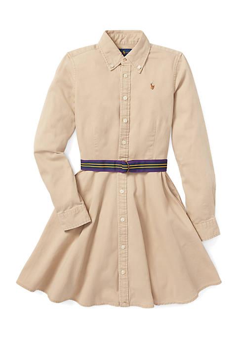 Ralph Lauren Childrenswear Girls 7-16 Belted Cotton Chino