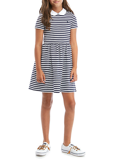 Girls 7-16 Structured Knit Striped Dress
