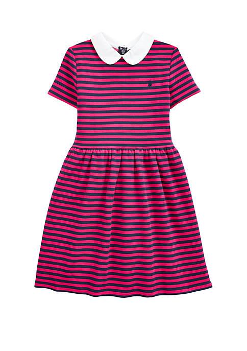 Ralph Lauren Childrenswear Girls 7-16 Striped Ribbed Ottoman