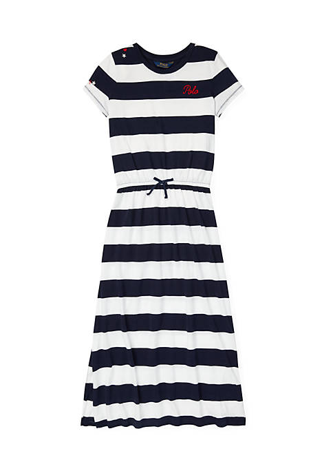 Ralph Lauren Childrenswear Girls 7-16 Striped Maxi Shirtdress