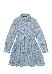 Girls 7 - 16 Floral Cotton Shirtdress