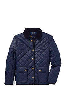 Girls 7-16 Quilted Barn Jacket