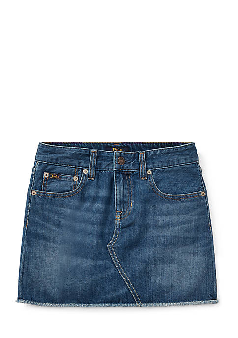 Ralph Lauren Childrenswear Girls 7-16 Denim Mini Skirt