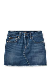 Girls 7-16 Denim Mini Skirt