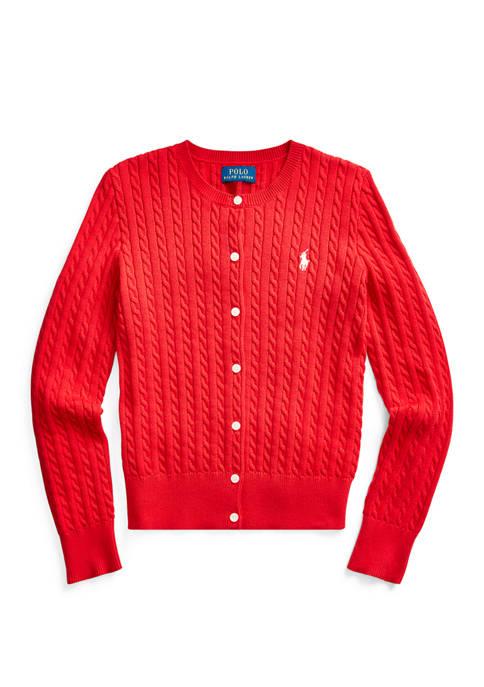 Ralph Lauren Childrenswear Girls 7-16 Cable Knit Cotton